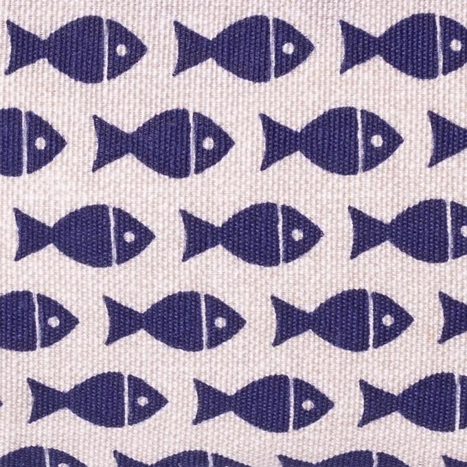 Neceser de tela estampado peces